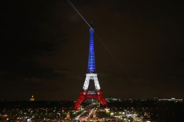 Paris Turns Blue, White and Red For Victims Of Friday's Terrorist Attacks